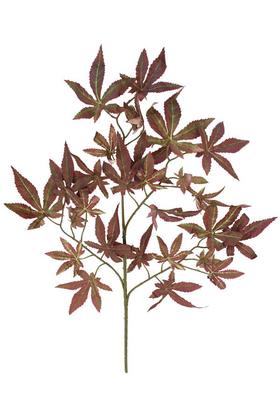 Yapay Çiçek Deposu - Kaliteli Yapay Çınar Ağacı Dalı 60 cm Kızıl-Kahve