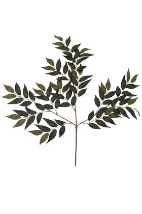 Yapay Çiçek Deposu - 1.Kalite Kumaş Ağaç Dalı 60 cm Mat Yeşil