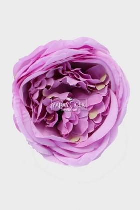 Yapay Çiçek Deposu - Yapay Tek Kafa Şakayık Gül 10 cm Lila