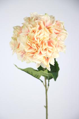 Yapay Çiçek Deposu - Yapay Lüx Ortanca Dalı 90 cm Somon