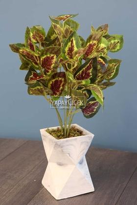 Yapay Çiçek Deposu - Uzun Model Beton Saksıda Babanne Bitkisi