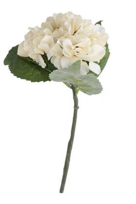 Yapay Çiçek Deposu - Yapay Fındık Ortanca Dalı 35 cm Krem