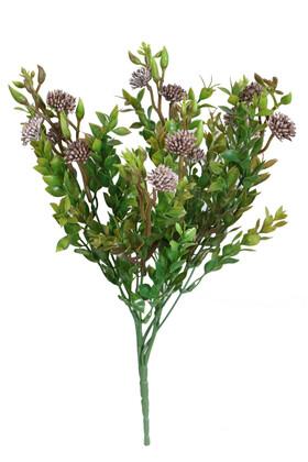 Yapay Çiçek Deposu - Yapay Garnitürlü Çalı Bitkisi 35 cm Pastel Pembe