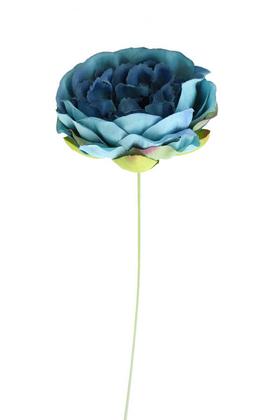 Yapay Çiçek Deposu - Yapay Gül İnce İpek Tek Dal Şakayık Mavi