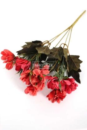 Yapay Çiçek Deposu - Yapay Sonbahar Ayçiçeği Demeti 28 cm Kırmızı