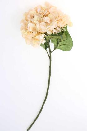 Yapay Çiçek Deposu - Yapay İri Kafa Premium Kaliteli Ortanca Dalı 83 cm Somon