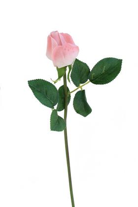 Yapay Çiçek Deposu - Yapay Islak Gonca Gül 44 cm Pembe