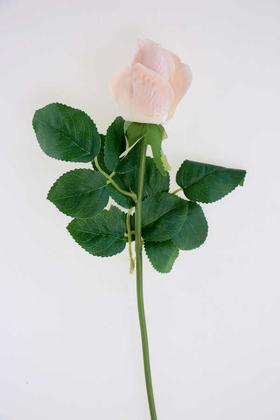 Yapay Çiçek Deposu - Yapay Islak Gonca Gül 44 cm Pudra