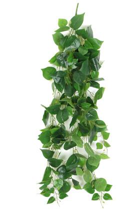 Yapay Çiçek Deposu - Yapay Islak Yapraklı Damarlı Kaliteli Sarkan Sarmasik 120 cm