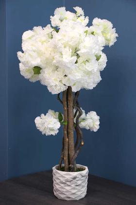 Yapay Çiçek Deposu - Yapay Küçük Bahar Dalı Ağacı 75 cm Beyaz