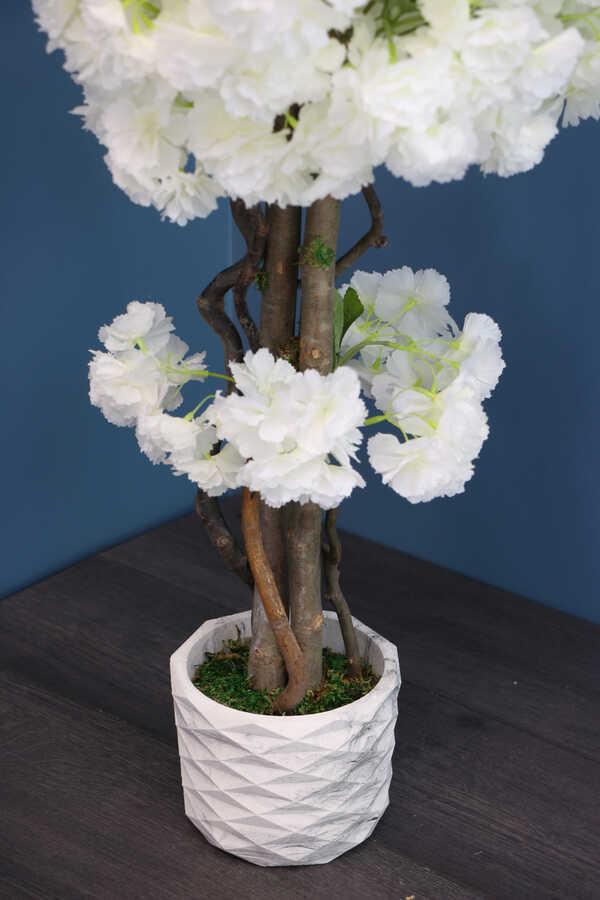 Yapay Küçük Bahar Dalı Ağacı 75 cm Beyaz