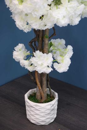 Yapay Küçük Bahar Dalı Ağacı 75 cm Beyaz - Thumbnail
