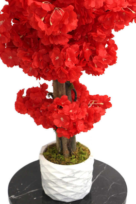 Yapay Küçük Bahar Dalı Ağacı 75 cm Kırmızı - Thumbnail