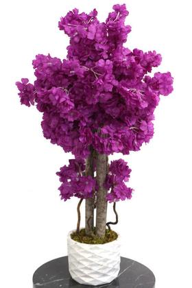 Yapay Çiçek Deposu - Yapay Küçük Bahar Dalı Ağacı 75 cm Mor