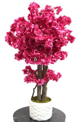 Yapay Çiçek Deposu - Yapay Küçük Bahar Dalı Ağacı 75 cm Mürdüm