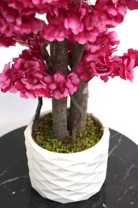 Yapay Küçük Bahar Dalı Ağacı 75 cm Mürdüm - Thumbnail