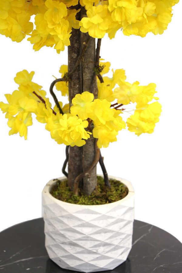 Yapay Küçük Bahar Dalı Ağacı 75 cm Sarı