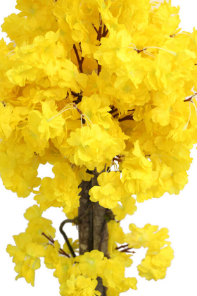 Yapay Küçük Bahar Dalı Ağacı 75 cm Sarı - Thumbnail