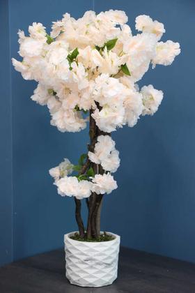 Yapay Çiçek Deposu - Yapay Küçük Bahar Dalı Ağacı75 cm Somon