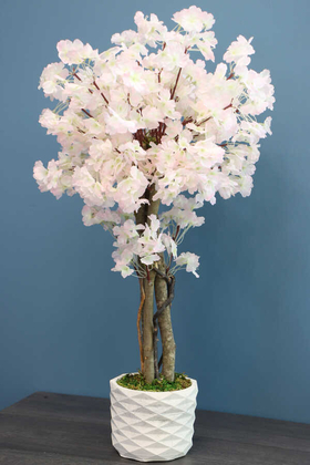 Yapay Çiçek Deposu - Yapay Küçük Japon Bahar Dalı Ağacı 75 cm Açık Pembe