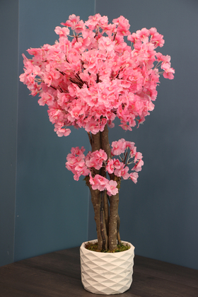 Yapay Çiçek Deposu - Yapay Küçük Japon Bahar Dalı Ağacı 75 cm Pembe