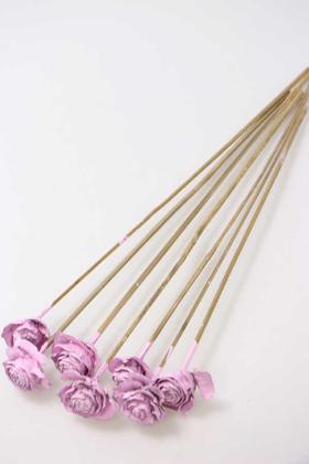 Yapay Çiçek Deposu - Cedar Rose 7Li Demet 45 cm Lila