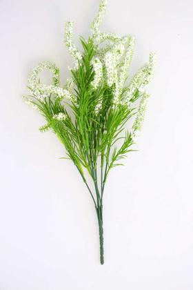 Yapay Çiçek Deposu - Yapay Cipsolu Yeşillikli Lavanta Beyaz