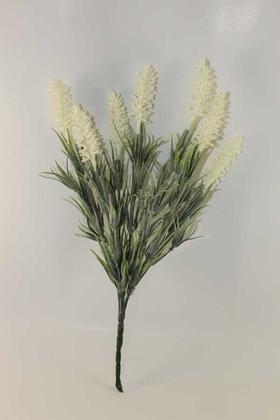 Yapay Çiçek Deposu - Yapay Lavanta Demeti Beyaz(İri Başlı, Pudralı)