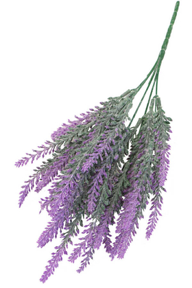 Yapay Çiçek Deposu - Yapay Lavanta Demeti Pudralı 35 İri Kafa Fuşya