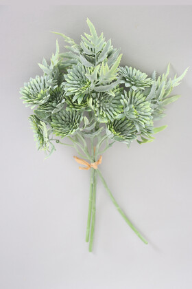 Yapay Çiçek Deposu - Yapay Lüx 3lü Pastel Bitki Dalı 32 cm Yeşil