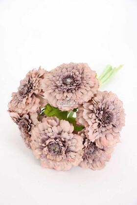 Yapay Çiçek Deposu - Yapay Lüx 6lı Gerbera Demeti 30 cm Gri