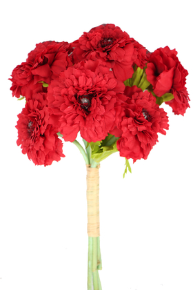 Yapay Çiçek Deposu - Yapay Lüx 6lı Gerbera Demeti 30 cm Kırmızı