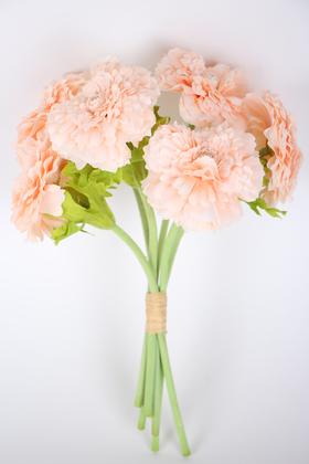 Yapay Çiçek Deposu - Yapay Lüx 6lı Gerbera Demeti 30 cm Pudra