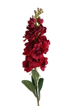 Yapay Çiçek Deposu - Yapay Lüx Dal Şebboy 82 cm Bordo