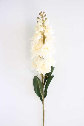 Yapay Çiçek Deposu - Yapay Lüx Dal Şebboy 82 cm Krem