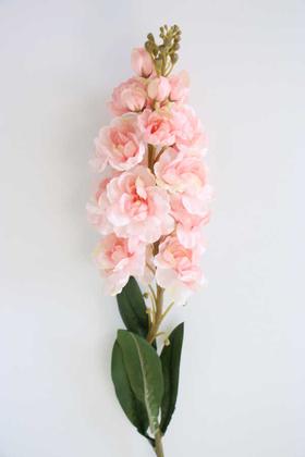 Yapay Çiçek Deposu - Yapay Lüx Dal Şebboy 82 cm Pudra Pembe