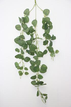 Yapay Çiçek Deposu - Yapay Lüx Sarkan Okaliptus Bitkisi 80 cm Yeşil
