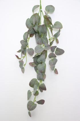 Yapay Çiçek Deposu - Yapay Lüx Sarkan Okaliptus Bitkisi 60 cm Yeşil-Mor