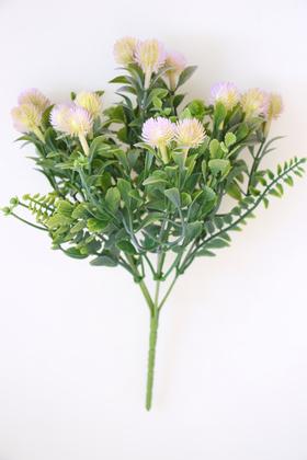 Yapay Çiçek Deposu - Yapay Lüx Top Yeşillik Demeti 30 cm Lila