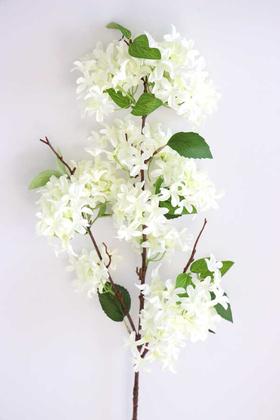 Yapay Çiçek Deposu - Yapay Lüx Uzun dal Saçaklı Mine Çiçeği 100 cm Beyaz