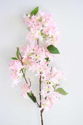 Yapay Çiçek Deposu - Yapay Lüx Uzun dal Saçaklı Mine Çiçeği 100 cm Pudra