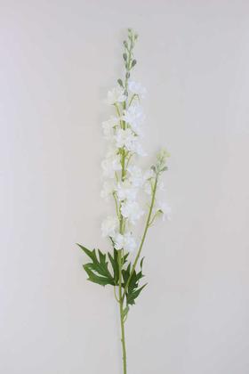 Yapay Çiçek Deposu - Yapay Lüx Zarif Delphinium Dalı 84 cm Beyaz