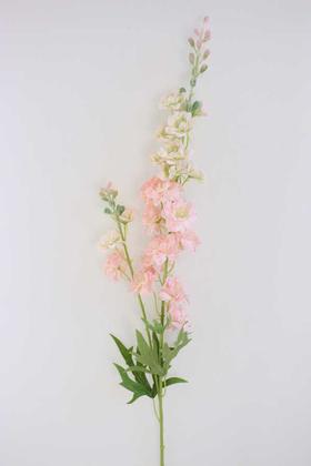 Yapay Çiçek Deposu - Yapay Lüx Zarif Delphinium Dalı 84 cm Pudra