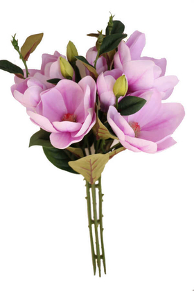 Yapay Çiçek Deposu - Yapay Lüx Manolya Demeti 50 cm Lila