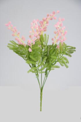 Yapay Çiçek Deposu - Yapay Mimoza Çiçeği Demeti 33 cm Pembe
