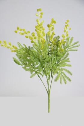 Yapay Çiçek Deposu - Yapay Mimoza Çiçeği Demeti 33 cm Fıstık Yeşili