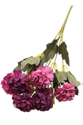 Yapay Çiçek Deposu - Yapay 6 Dal Kasımpatı Demeti Mürdüm-Pembe