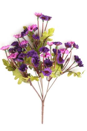Yapay Çiçek Deposu - Yapay 42 Kafalı Papatya Çiçeği Demeti Mor