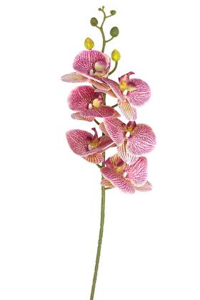 Yapay Çiçek Deposu - Yapay Pastel Islak Orkide Çiçeği 90 cm Lila Benekli