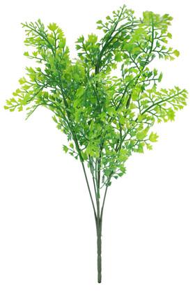 Yapay Çiçek Deposu - Yapay 5 Dal Plastik Maydonoz Bitkisi Yeşil